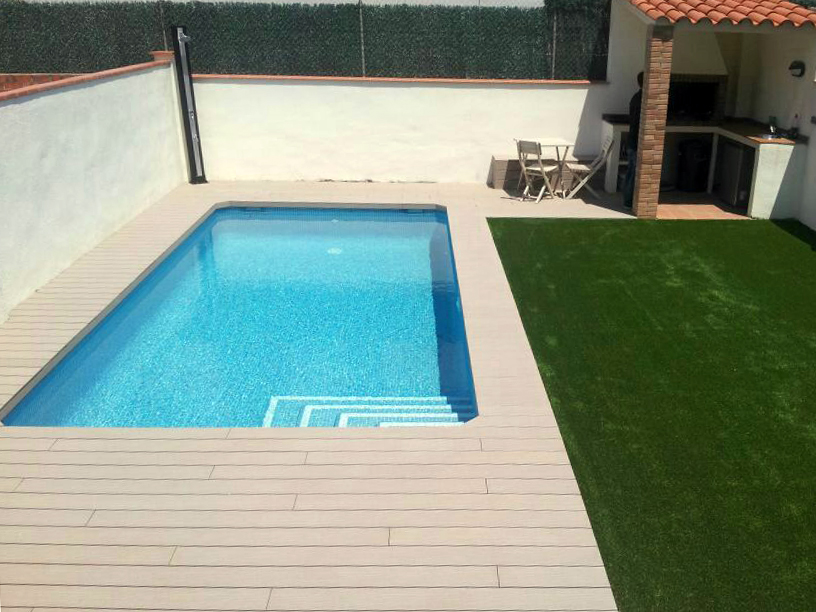 Timbertech twinfinish grey el taller del parquet for Piscina ripollet